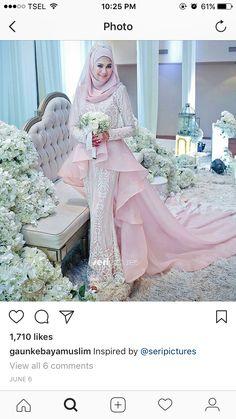 Peplum Wedding Dress, Malay Wedding Dress, Muslim Wedding Dresses, Weeding Dress, Muslim Brides, Evening Dresses For Weddings, Bridal Wedding Dresses, Muslim Wedding Gown, Muslimah Wedding Dress