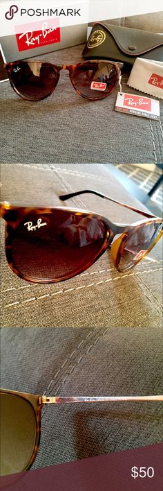 LAST PAIR! RAY-BAN ERIKA LEOPARD SUNGLASSES RAY-BAN ERIKA LEOPARD SUNGLASSES Please understand that these are NOT authentic but are almost exact to the authentic pair. Please comment questions. I wear these and get compliments on them. Thanks for looking! Ray-Ban Accessories Sunglasses