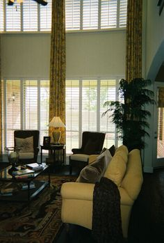 Two Story Family Room Plantation Shutters On Top Would