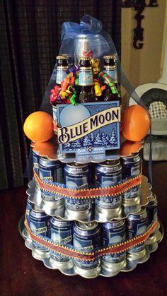 """Blue Moon Beer """"cake"""""""