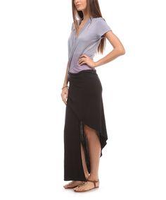 Lilac & Black Surplice Tie-Dye Maxi Dress