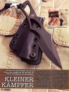 Spartan Blades Enyo Fixed Knife Blade Fighting Neck Knife Kydex Sheath