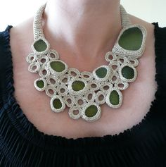 Etsy Transaction - Smart beige necklace with 10 sea glasses