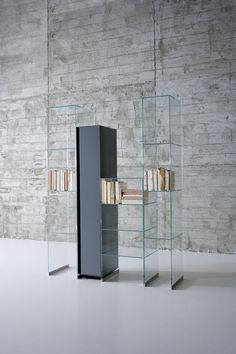 Antonio Lupi  CITY glass shelves  for modern bathroom design  - Design Carlo Colombo