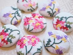 cross stitch buttons love lui