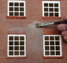 how to: making bricks with air dry clay