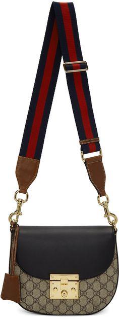 Gucci - Brown GG Supreme Padlock Bag