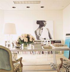 a glamorous, feminine office | domino.com