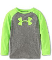 Alex LOVES any kind of dryfit (silky) long sleeved tops in bright colors.  Doesn't have to be Underarmour.  Evan likes them too!