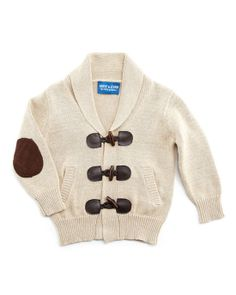 Sweaters For Baby Boys | Andy & Evan's Toggle-Front Cardigan ($46) is finished with gentlemanly elbow patches and a shawl collar.
