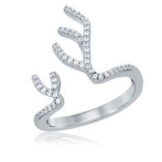 Elsa Antler Diamond Ring