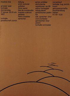 Josef Muller-Brockmann, concert poster, 1955