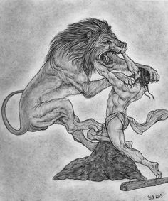 Heracles and the Nemean Lion by Bill-Con on deviantART. Tags: heracles, herakles, hercules, nemean lions, monsters,