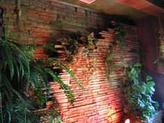 Great waterfall in the home!  Inside Graceland -- to walk through that front door and tour with my granddaughter and grandson