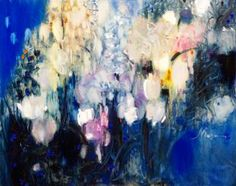 "Saatchi Art Artist Nina Reznichenko; Painting, ""spring blues"" #art"