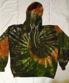 tie dye-hoodie pull-over sweatshirt -tie dye shirts-hand made xl tubers tie dyes