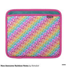 New Awesome Rainbow Notes iPad Sleeves
