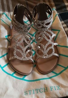51b0ddf7eb9c Embellished gladiator sandals. Stitch fix spring summer 2016  NEED THESE IN  MY NEXT