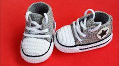 Crochet All Star Baby Booties Crochet All Star Baby Booties – We Love Crochet Crochet Baby Boots, Booties Crochet, Crochet Bebe, Crochet Shoes, Love Crochet, Baby Booties, Baby Shoes, Knitted Baby, Crochet Dolls