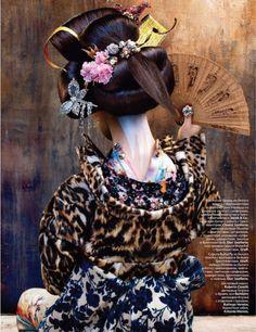 Vogue Russia August 2012 - Geisha Print @ Street Stylista
