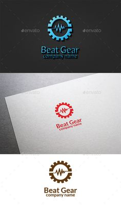 Beat Gear Logo - Vector Abstract