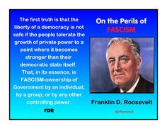 FDR -----When the 1% to have a louder voice than the people, the result is not democracy.