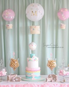 Baby Birthday Themes, First Birthday Party Decorations, 1st Birthday Cakes, Baby Girl First Birthday, Birthday Balloons, First Birthday Parties, Baby Shower Decorations, First Birthdays, Birthday Ideas