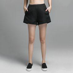 Textured High Waist A-line Shorts.