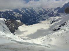Views at the top of Jungfrau.