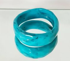 Excited to share this item from my #etsy shop: Vintage Turquoise lucite bangle, costume bangle, Turquoise bangle, Dress bangle, marble effect bangle.