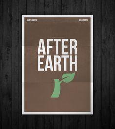 Semi-minimal movie poster of After Earth by Rubenski Gooljar
