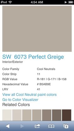 Perfect Greige by Sherwin Williams 6073