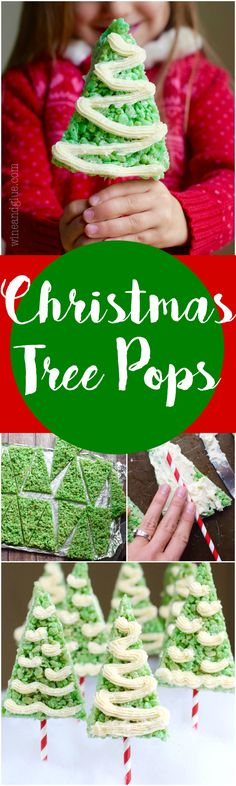 These Rice Krispies Treats Christmas Trees are so simple to make but are super delicious and make for such a fun holiday treat!