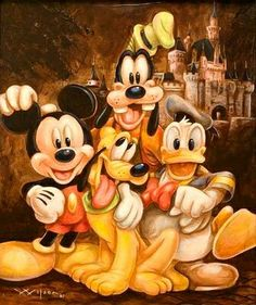 ❤💛Disney's Friends 4-ever Vintage💙💚