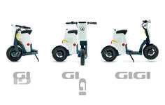GiGi foldable eScooter.   Simply foldable in 3 steps and 10 sec.