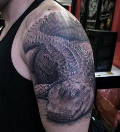 Absolut geniales Krokodil-Tattoo