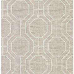 283-64053 Taupe Modern Ironwork - Karim - Beacon House Wallpaper