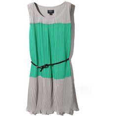 Color Block Grey-green Dress ($55) ❤ liked on Polyvore featuring dresses, vestidos, colorblock, green, grey, round neck sleeveless dress, green sleeveless dress, grey sleeveless dress, round neck dress and color block dress