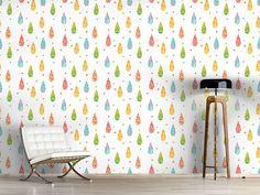 Design #Tapete Erfrischende Regentropfen
