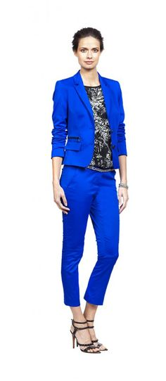 Art Remix Look 070 | Blue suit #ClaudiaSträter #Summer #Work #Attire