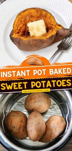 This Instant Pot recipe makes the BSET baked sweet potatoes. With much less cleanup, you can have the perfect Thanksgiving side dish. Creamy, fluffy, delicious! Serving suggestions for this dinner idea included! Healthy Thanksgiving Recipes, Thanksgiving Side Dishes, Best Baked Sweet Potato, Cooking Sweet Potatoes, Good Food, Yummy Food, Best Instant Pot Recipe, Pressure Cooker Recipes, Tasty