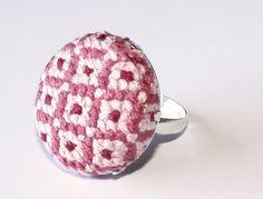 Skin ring IV. Cross stitch. €8.50, via Etsy.