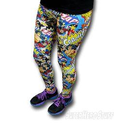 DC Heroines Crash Bam Women's Leggings