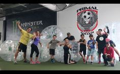 Super Bubble Soccer players from Nov. 29 at Primal Soccer in Irvine.