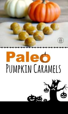 Paleo Pumpkin Caramels -smooth and richly flavored with a pumpkin undertone. If you like pumpkin, you'll love these caramels! Pumpkin Recipes, Fall Recipes, Whole Food Recipes, Holiday Recipes, Paleo Sweets, Paleo Dessert, Dessert Recipes, Paleo Life, Paleo Breakfast
