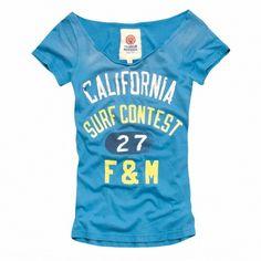 Franklin Marshall Donne Blu T-Shirt.€20.86