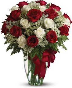 Order Love's Divine Bouquet - Long Stemmed Roses from Pearson Florist, LLC, your local florist. Send Love's Divine Bouquet - Long Stemmed Roses valentine for fresh and fast flower delivery throughout MN area. Red And White Roses, Red Roses, White Flowers, Fresh Flowers, Beautiful Flowers, Send Flowers, Flowers Today, Anniversary Flowers, Romantic Roses