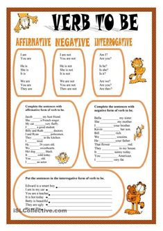 Activities about Present Simple of verb to be. Grammar: BE (auxiliary verb); English Grammar For Kids, Basic Grammar, Teaching English Grammar, English Grammar Worksheets, Verb Worksheets, English Verbs, Kids English, English Tips, Worksheets For Kids