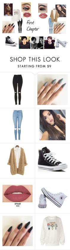 Untitled #14 by mh-1604482 on Polyvore featuring Chicnova Fashion, Topshop, Converse, Smashbox, Lime Crime and Burton