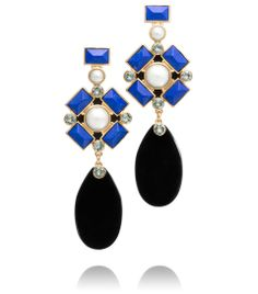 These Delphine statement earrings from Tory Burch adds graphic punch to any look.